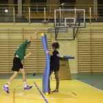 trenowanie rzutów na obozie sportowym