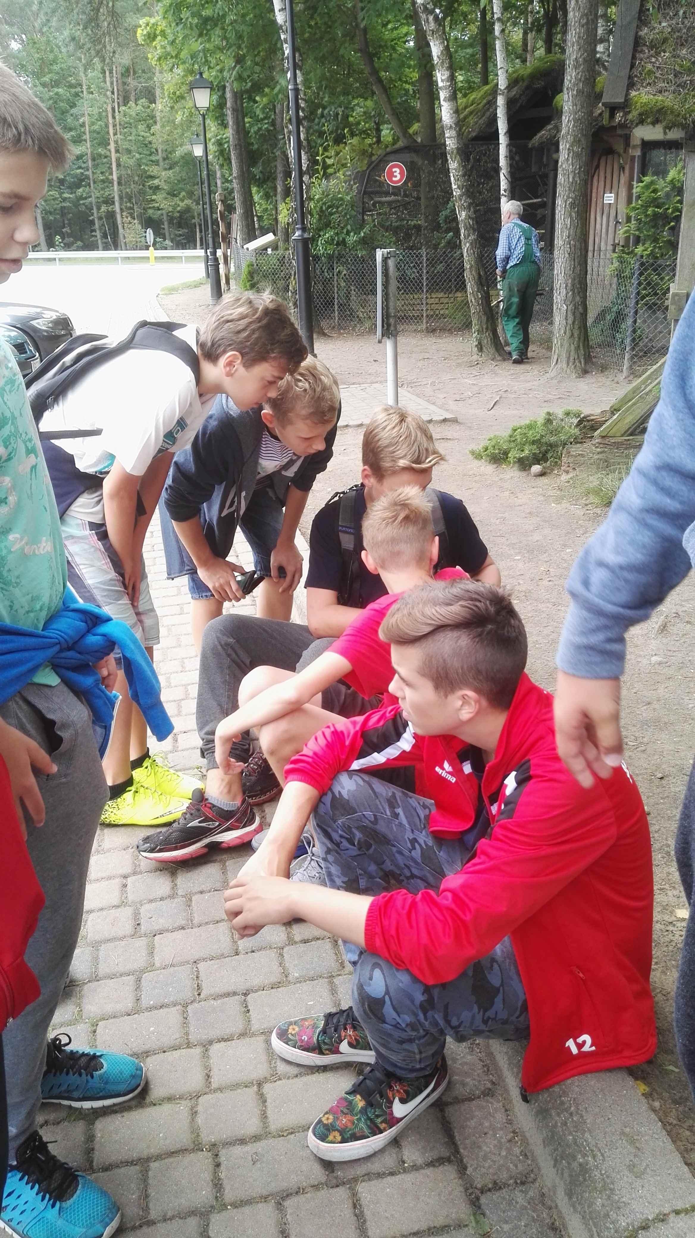 uczestnicy obozu sportowego w człuchowie