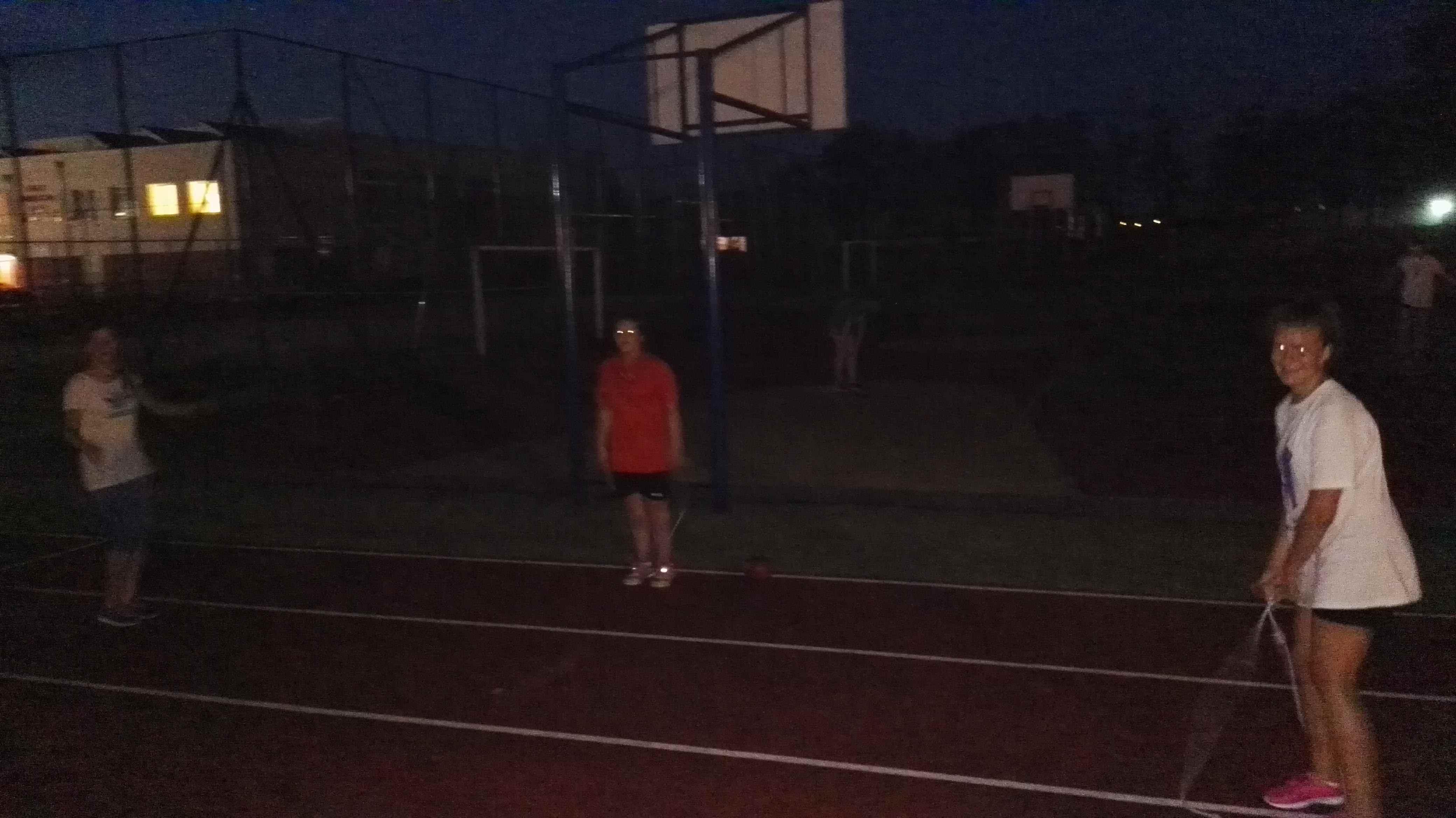 wieczorny trening