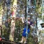 wspinaczka w lesie przy użyciu li